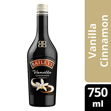 Baileys Liqueur Irish Cream Vanilla Cinnamon 34 Proof - 750 Ml