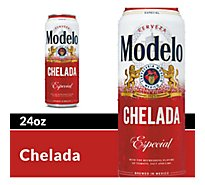 Modelo Chelada Beer Especial Mexican Import Flavored 3.5% ABV Cans - 24 Fl. Oz.