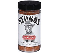 STUBBS Spice Rub All-Natural Beef - 2 Oz