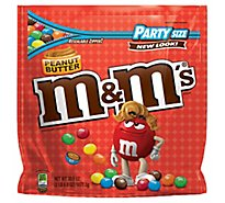M&Ms Peanut Butter Chocolate Candy Party Size 38 Oz