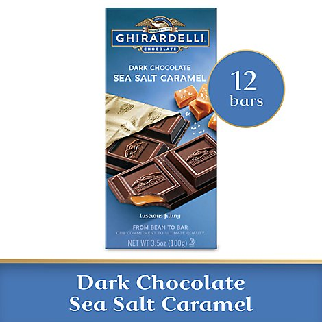 Ghirardelli Chocolate Dark Chocolate Sea Salt Caramel - 3.5 Oz