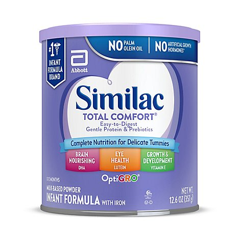 Similac Total Comfort Infant Formula With Iron Powder - 12 Oz