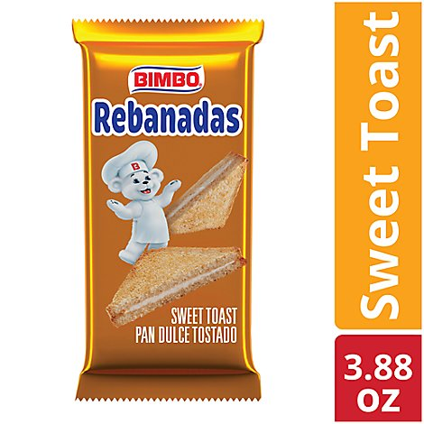 Bimbo Rebanadas Toast Creme Filled - 3.88 Oz