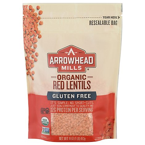 Arrowhead Mills Organic Lentils Red - 16 Oz