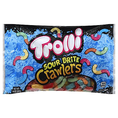Trolli Candy Gummi Sour Brite Crawlers - 14 Oz