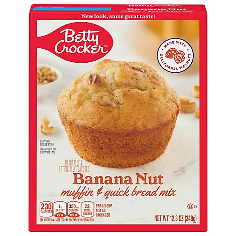 Betty Crocker Muffin & Quick Bread Mix Banana Nut - 12.3 Oz