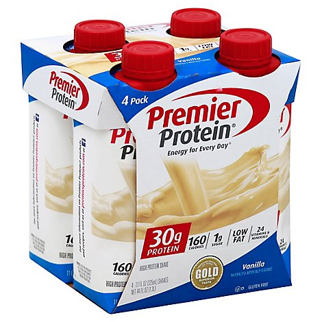 Premier Protein Energy For Everyday Protein Shake Vanilla - 4-11 Fl. Oz.