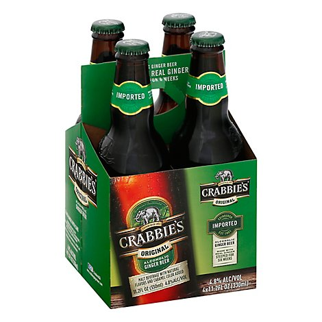 Crabbies Beer Ginger Bottles - 4-11.2 Fl. Oz.