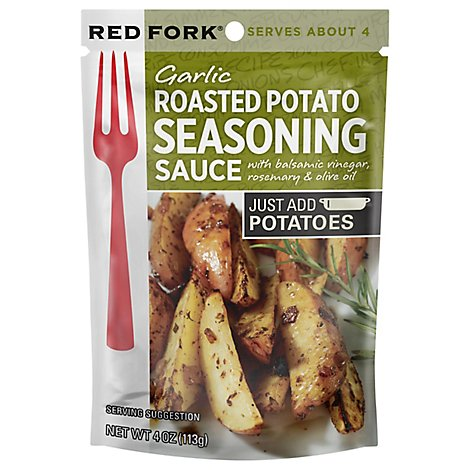 Red Fork Seasoning Sauce Garlic Roasted Potato Pouch - 4 Oz