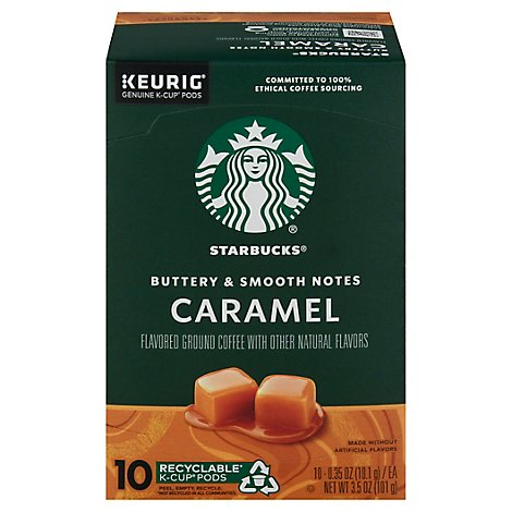 Starbucks Coffee K-Cup Pods Caramel Box - 10-0.35 Oz