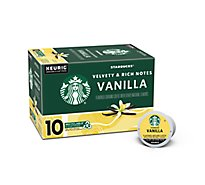 Starbucks Coffee K-Cup Pods Flavored Vanilla Box - 10-0.35 Oz