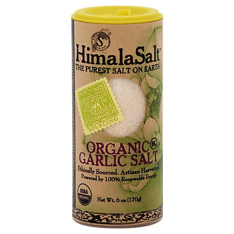 HimalaSalt Garlic Salt Organic - 6 Oz