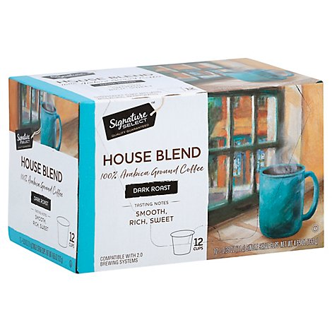 Safeway SELECT Coffee K-Cup Pods Medium Roast House Blend - 12-0.39 Oz