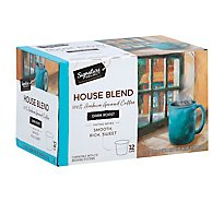 Signature SELECT Coffee Pods Medium Roast House Blend - 12-0.39 Oz