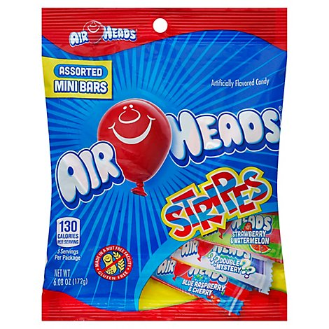 Airheads Candy Mini Bars Stripes - 6.08 Oz