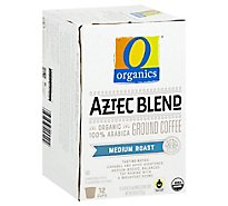 O Organics Organic Coffee Single Serve Cups Medium Roast Aztec Blend - 12-0.38 Oz