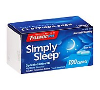 Simply Sleep Caplets 25 Mg - 100 Count