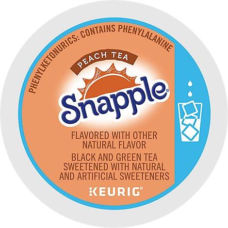 Snapple Iced Tea K-Cup Packs Peach - 12-0.51 Oz