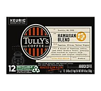 Tullys Coffee Coffee K-Cup Pods Extra Bold Medium Roast Hawaiian Blend - 12-0.4 Oz