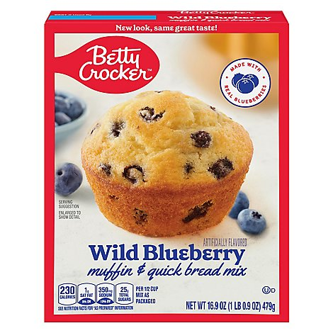 Betty Crocker Muffin & Quick Bread Mix Wild Blueberry - 16.9 Oz