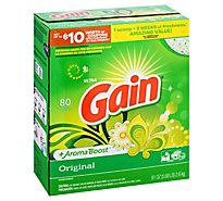 Gain Ultra Laundry Detergent Powder Original 80 Loads - 91 Oz