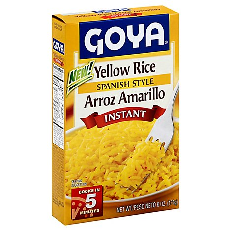 Goya Rice Yellow Instant Spanish Style Box - 6 Oz