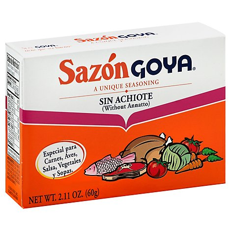 Goya Sazon Seasoning Sin Achiote Box - 2.11 Oz