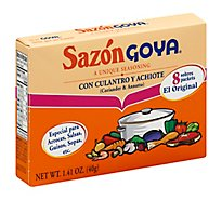 Goya Sazon Seasoning Con Culantro Y Achiote Box 8 Count - 1.41 Oz
