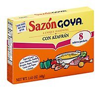 Goya Sazon Seasoning Con Azafran Box 8 Count - 1.41 Oz