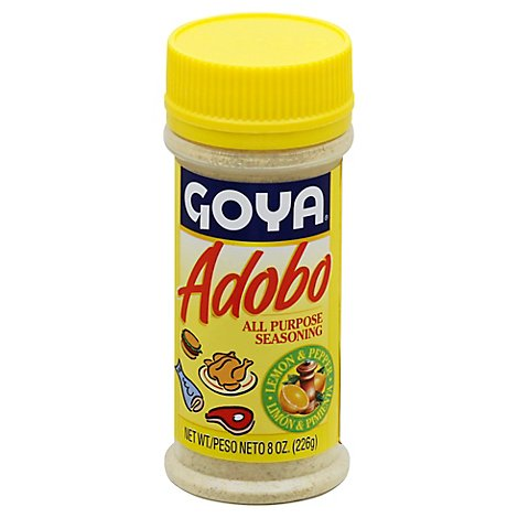 Goya Seasoning All Purpose Adobo Lemon & Pepper Jar - 8 Oz
