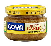 Goya Garlic Minced Jar - 4.5 Oz
