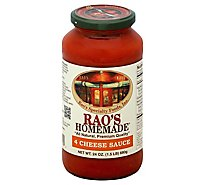 Raos Homemade Sauce 4 Cheese Jar - 24 Oz