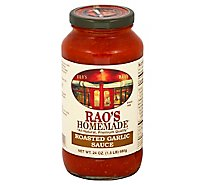 Raos Homemade Sauce Roasted Garlic Jar - 24 Oz
