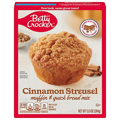 Betty Crocker Muffin & Quick Bread Mix Cinnamon Streusel - 13.9 Oz