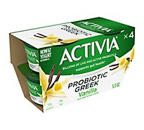 Activia Probiotic Greek Yogurt Nonfat Vanilla - 4-5.3 Oz
