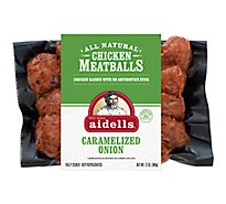 Aidells Chicken Meatballs Caramelized Onion - 12 Oz