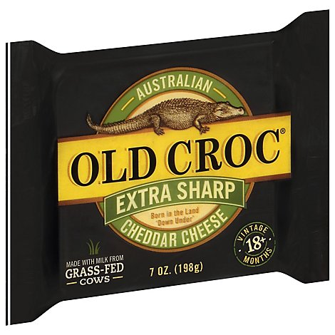 Old Croc Cheese Australian Cheddar Extra Sharp - 7 Oz