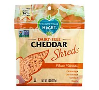 Follow Your Heart Vegan Gourmet Shreds Cheddar - 8 Oz