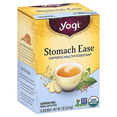 Yogi Herbal Supplement Tea Organic Stomach Ease 16 Count - 1.02 Oz
