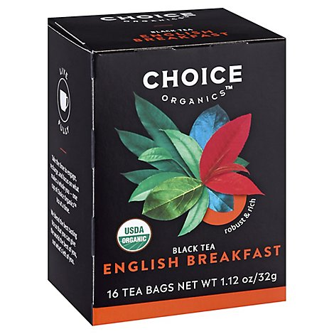 Choice Organic Teas Black Tea Organic English Breakfast - 16 Count