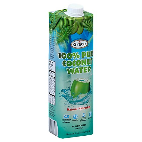 Grace Coconut Water No Pulp Carton - 33.8 Fl. Oz.