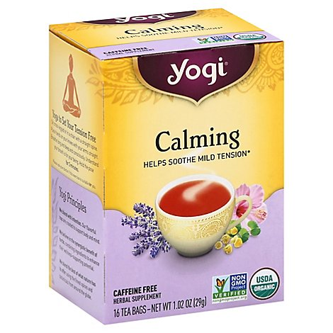 Yogi Herbal Supplement Tea Organic Calming 16 Count - 1.02 Oz