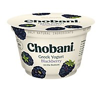 Chobani Yogurt Greek Fruit On The Bottom Low-Fat Blackberry - 5.3 Oz