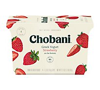 Chobani Yogurt Greek Fruit On The Bottom Non-Fat Strawberry - 4-5.3 Oz