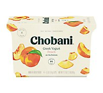 Chobani Yogurt Greek Non Fat On The Bottom Peach - 4-5.3 Oz