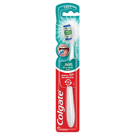 Colgate 360 Whole Mouth Clean Toothbrush Full Head Soft 36 - 1 Count