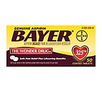 Bayer Aspirin Tablets 325mg Coated - 50 Count