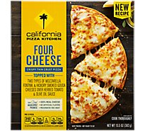 California Pizza Kitchen Pizza Crispy Thin Crust Four Cheese Frozen - 13.5 Oz