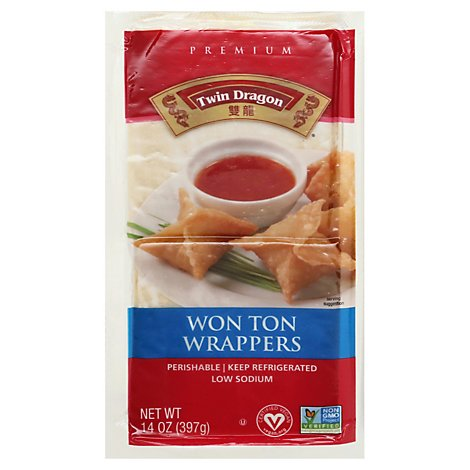 Twin Dragon All Natural Wrappers Won Ton - 14 Oz