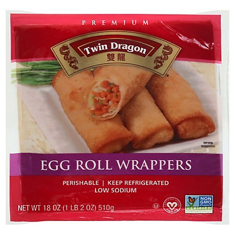Twin Dragon All Natural Wrappers Egg Roll 18 Oz Albertsons